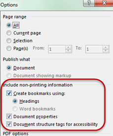 Make sure all boxes are checked in the option section called Include non-printing information