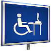 universal wheelchair icon in front of a computer