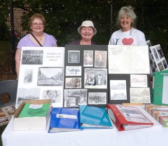 Genealogy display at ACC's Party In The Park 2012