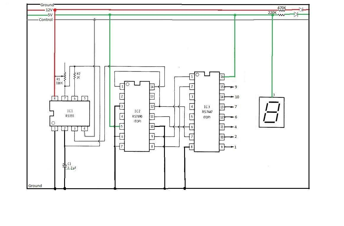 7 Segment Logic Diagram Display Circuit Dung Huynh Sketch Video Of Our Working Segments Counting From 0 To