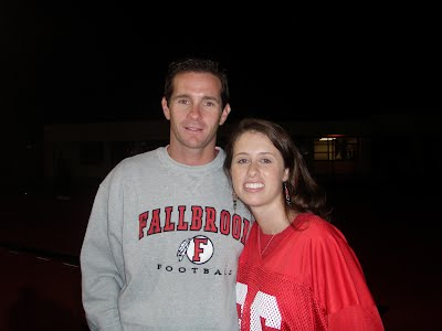 Mr. and Mrs. Dawson at Fallbrook High School Football Game
