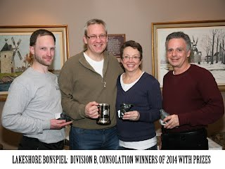 "2014 Lakeshore Bonspiel ""B"" division consolation winning team"