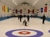 2014 Lakeshore bonspiel Pointe-Claire curling club action on the ice