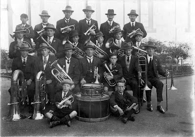 The Latrobe Federal Band in 1926, outside the Latrobe Post Office Reserve. All the living members of the band in the picture will attend 140th anniversary celebrations this weekend.
