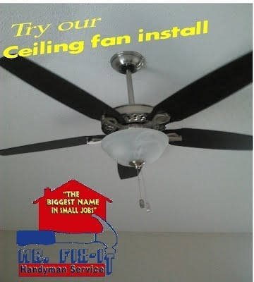 Ceiling fan installation and repair mr fix it handyman service of ceiling fan installation and repair aloadofball Images