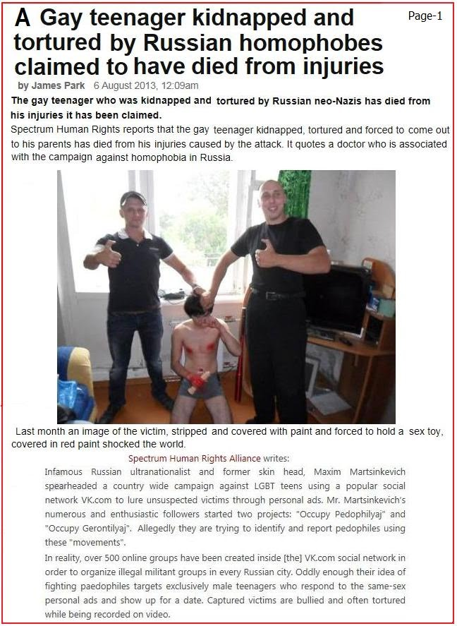 Most skinheads are repressed homosexuals, and the Russian skinheads  mentioned above get