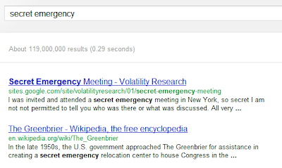 June 21 And secret emergency meeting got to #1 of 190 million today on Google® Search  searching secret emergency
