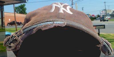 rayed, 7-year old NY Yankees cap needing more than a wash