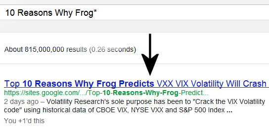 July 19, 2012 9:30 AM  This page has quickly risen to #1 of 815 million pages in just 3 days since it was first up on July 16, 2012 10:11 AM on Google® Search searching 10 Reasons Why Frog