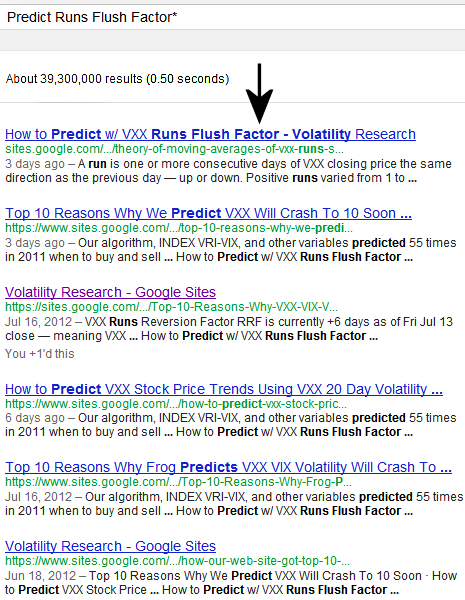 July 23, 2012  This page is ranked #1 of 39 million pages on Google® Search searching Predict Runs Flush Factor*  followed by 5 of our other pages.