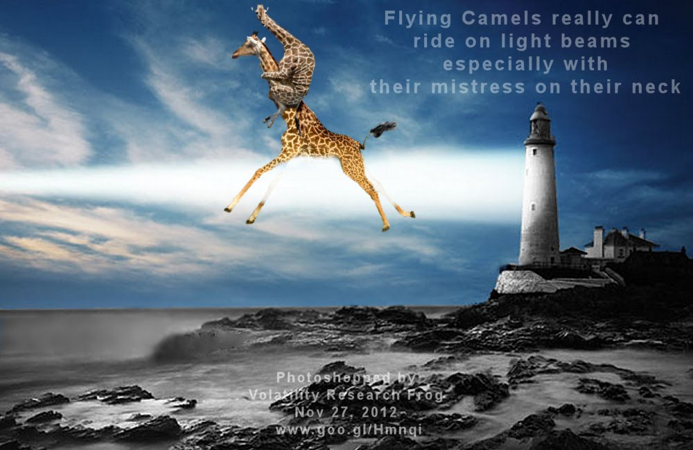 Flying Camels really can ride on light beams especially with mistress on their neck