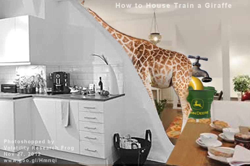 How to House Train a Giraffe    Photoshopped by  Volatility Research Frog  Nov 27, 2012  www.goo.gl/Hmnqi
