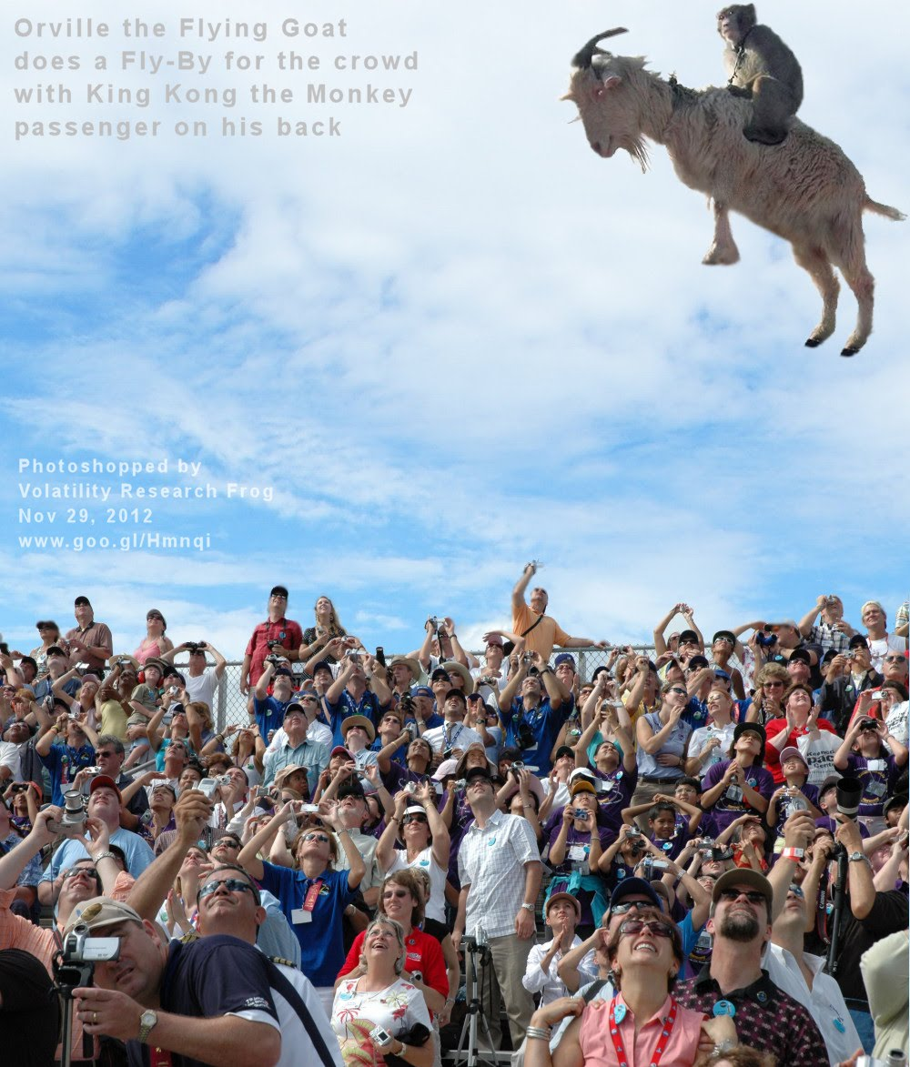 Nov 29, 2012  Orville the Flying Goat does a Fly-By for the crowd with King Kong the Monkey passenger on his back