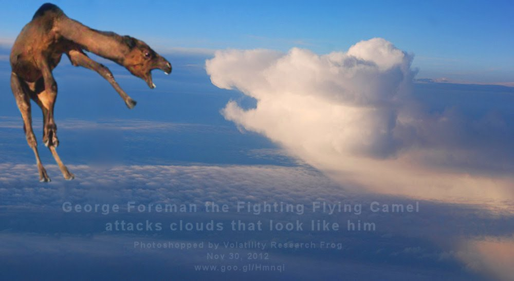 Nov 30, 2012  George Foreman the Fighting Flying Camel attacks clouds that look like him