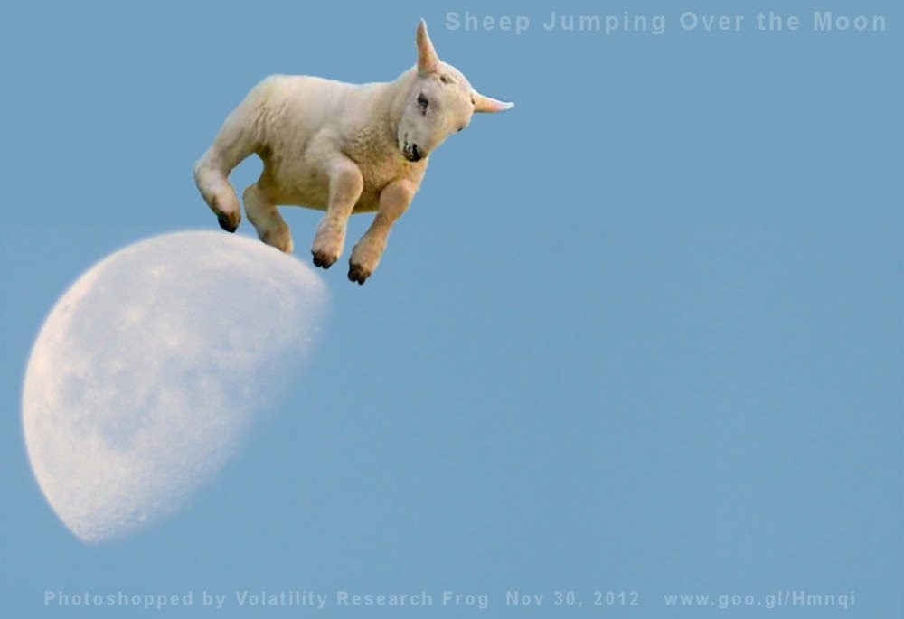 Sheep Jumping Over the Moon
