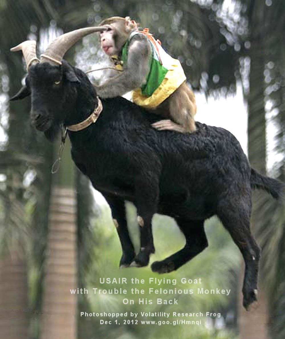 USAIR the Flying Goat with Trouble the Felonious Monkey On His Back    Photoshopped by Volatility Research Frog  Dec 1, 2012  www.goo.gl/Hmnqi