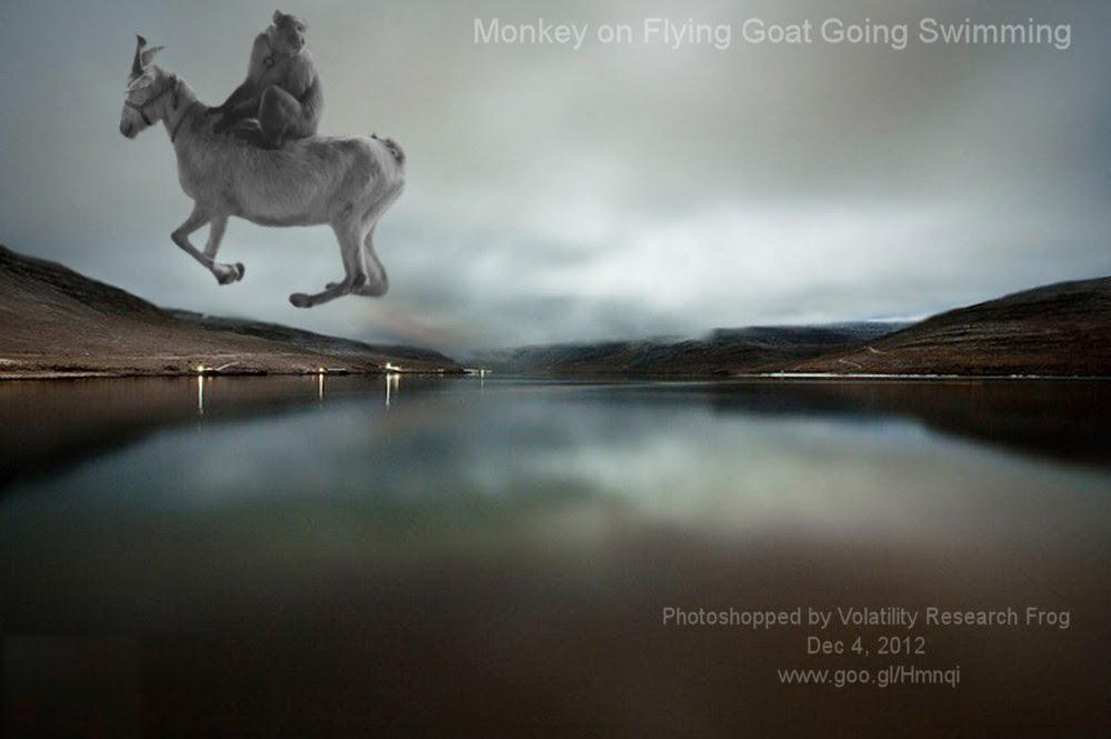 Dec 4, 2012  Monkey on Flying Goat Going Swimming   Photoshopped by Volatility Research Frog  Dec 4, 2012  www.goo.gl/Hmnqi