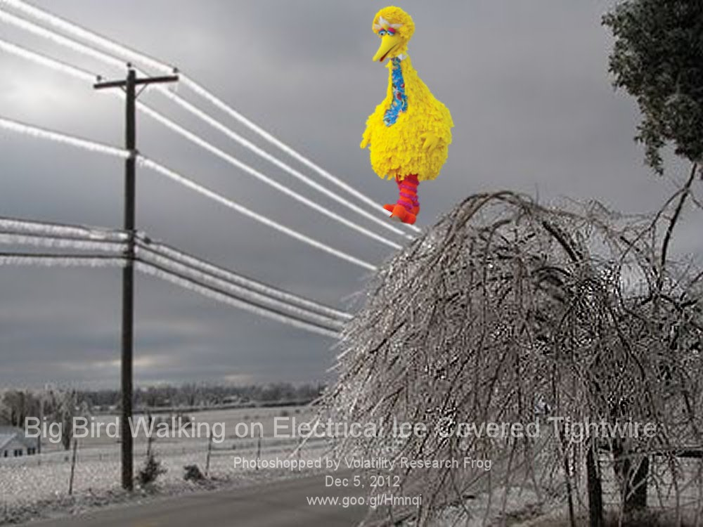 Dec 5, 2012  Big Bird Walking on Electrical Ice Covered Tightwire