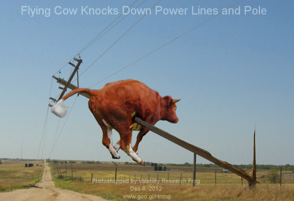 Dec 6, 2012  Flying Cow Knocks Down Power Lines and Pole