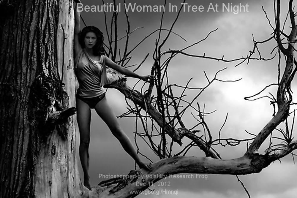 Dec 11. 2012  Beautiful Woman In Tree At Night