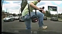 Guy survives being hit by car 35+ mph video