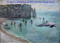 Dolphin Jumping at Etretat the Aval Door (Volatility Research) 1000w