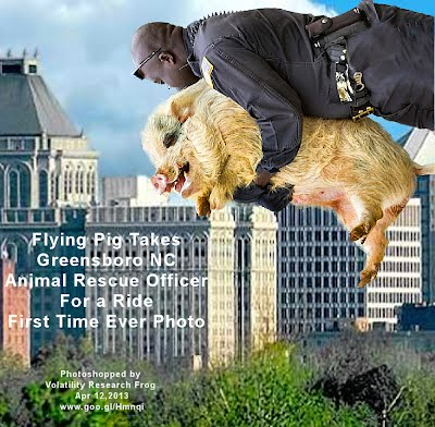 Flying Pig Takes Greensboro NC Animal Rescue Officer For a Ride First Time Ever Photo (Volatility Research 1000w