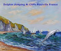 Dolphin Jumping At Cliffs Pourville France (Volatility Research) 1000w