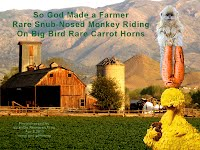 So God Made a Farmer — Rare Snub-Nosed Monkey Riding On Big Bird Rare Carrot Horns (Volatility Research) 1000w3