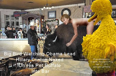 So God Made a Farmer—Big Bird Watching Obama Lead Hillary Naked On His Pet Buffalo Into Bar (Volatility Research) 1000w