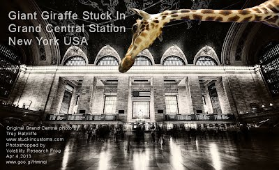 Giant Giraffe Stuck In Grand Central Station New York USA (Volatility Research) 1000w
