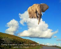 Flying Elephants Love Train Conga Line Land On Cloud (Volatility Research) 1000w
