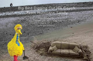 Big Bird Digging Out His Couch From Hurricane Sandy (Volatility Research) 1000w