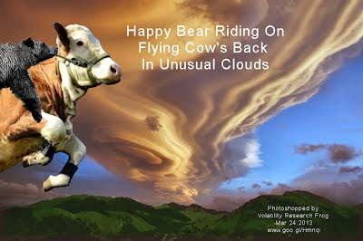 Happy Bear Riding On Flying Cow's Back In Unusual Clouds (Volatility Research) 1000w
