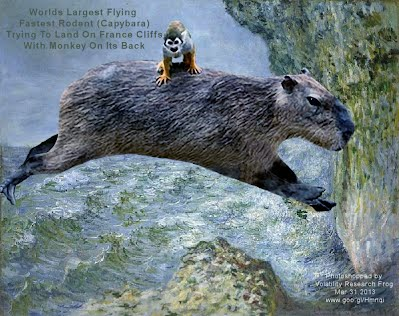 Worlds Largest Flying Fastest Rodent Trying To Land On France Cliffs With Monkey On Its Back (Volatility Research) 1000w
