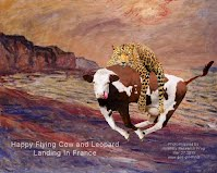 Happy Flying Cow and Leopard Landing In France (Volatility Research) 1000w