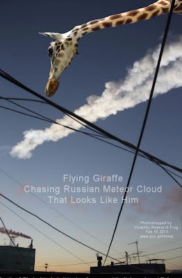 Flying Giraffe Chasing Russian Meteor Cloud That Looks Like Him (Volatility Research) 1000h