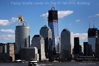 Flying Giraffe Lands On Top Of Tall NYC Building (Volatility Research) 1000w
