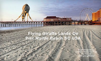 Flying Giraffe Lands On Pier Myrtle Beach SC USA (Volatility Research) 1000w