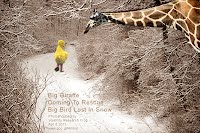 Big Giraffe Coming To Rescue Big Bird Lost In Snow (Volatility Research) 1000w