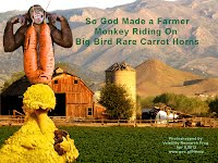 So God Made a Farmer — Monkey Riding On Big Bird Rare Carrot Horns (Volatility Research) 1000w2