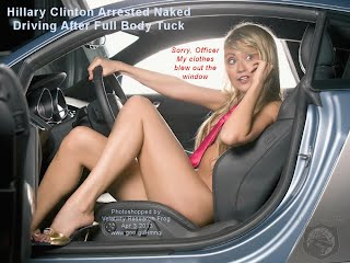 Hillary Clinton Arrested Naked Driving After Full Body Tuck (Volatility Research) 1000w
