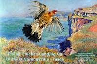 Flying Chicken Landing On Cliffs At Varengeville France (Volatility Research) 1000w