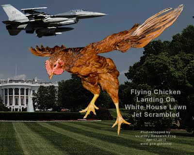 ALERT Flying Chicken Landing On White House Lawn — Jet Scrambled (Volatility Research) 1000w
