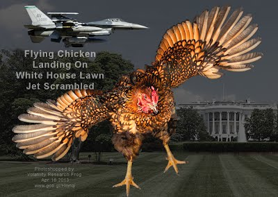ALERT Flying Chicken #2 Landing On White House Lawn — Jet Scrambled (Volatility Research) 1000w