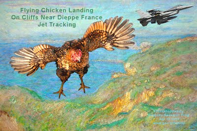 ALERT - Flying Chicken Landing On Cliffs Near Dieppe France - Jet Tracking (Volatility Research) 1000w