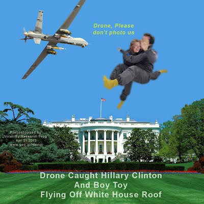 Drone Caught Hillary Clinton And Boy Toy Flying Off White House Roof (Volatility Research) 1000w