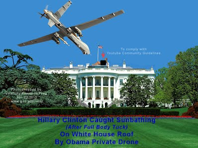 Hillary Clinton Caught Sunbathing On White House Roof By Obama Private Drone After Full Body Tuck (Volatility Research) 1000w