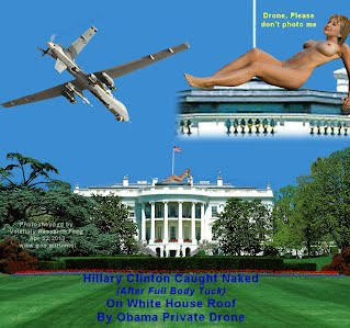 Hillary Clinton Caught Naked On White House Roof By Obama Private Drone After Full Body Tuck (Volatility Research) 1000w