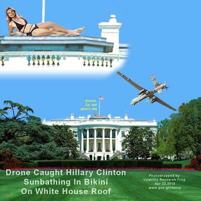 Drone Caught Hillary Clinton Sunbathing In Bikini On White House Roof (Volatility Research) 1000w